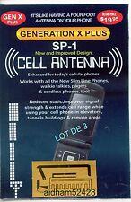 Amplificateur d'antenne **SP1** Lot de 3 BOOSTERS  GENERATION  X PLUS, 10+.