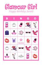 Diva/Glamour Girl/Slumber Birthday Party Game Bingo