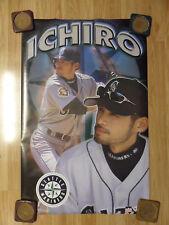 MLB Baseball Poster Ichiro Suzuki Seattle Mariners ~ Vintage 2001