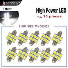 10pc White Festoon 31mm LED Coutesy Door Light Blub 3022 DE3175 6428 DE3021