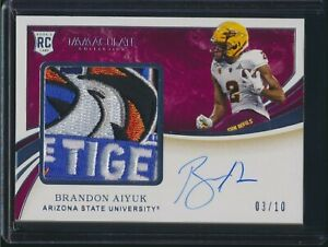 2020 Panini Immaculate RPA Rookie Patch Auto Relic Bowl Brandon Aiyuk 03/10