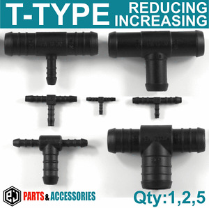 T JOINER Piece 3 WAY PLASTIC BARBED CONNECTOR PIPE HOSE Reducer Air Fuel Water