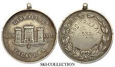 Médaille/ Medal- GIBRALTAR, Talavera. 880x Relay 1932. Gr.Britain.Argent/ Silver
