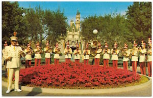 Disneyland Postcard Marching Band at Sleeping Beauty's Castle~104157