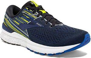 Brooks Mens Adrenaline GTS 19 Running Shoes Black Blue - B Width (Narrow)
