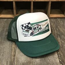 Kodiak Racing Team Vintage 80's Trucker Hat Nascar Rusty Wallace Cap Dark Green