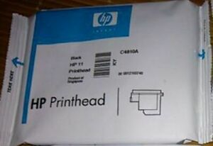 HP 11 Printhead C4810A black inkjet 1000 1100 1200 2200 2250 2280 2300 2600 2800
