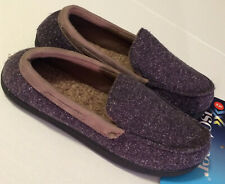 Isotoner Men's Moccasin Style Slipper Speckled Navy Blue XL Size 11-12 New w/Tag