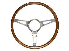 """65-73 Mustang Genuine Wood & Aluminum 15"""" 9 Hole Steering Wheel S1MS-3600-WG"""