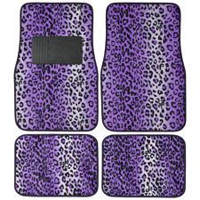 Purple LEOPARD Animal Print Car Carpet Floor Mats - Front Rear Cover SUV 4-PC