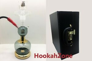 BLACK Al Fakher ALL GLASS HOOKAH EXTRA ACCESSORY LEATHER CASE
