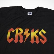 CROOKS & CASTLES CRKS LIGHTNING BOLT HEAVY METAL ROCK N ROLL TEE T SHIRT Mens M