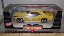 1/18 ERTL AMERICAN MUSCLE 1969 CHEVROLET CAMARO Z/28 DAYTONA YELLOW/BLK STRIP gd