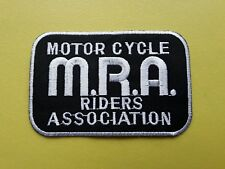 WORLDWIDE FREEPOST BIKER SLOGAN SEW & IRON ON PATCH - M.R.A. MOTOR CYCLE RIDERS
