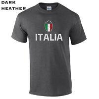 437 Italia Flag Mens T-Shirt new funny country italian italy cool futbol soccer
