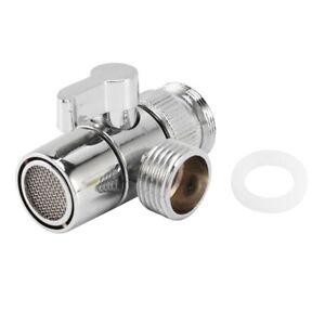 Faucet Valve Diverter Sink Valve Water Tap Faucet Splitter Adapter Home Bat T2A4