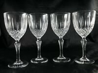 4 vintage french lead crystal glasses white or red wine water glasses - boxed