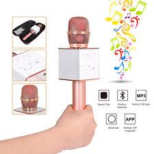 Q9 Wireless Bluetooth Handheld Ktv Karaoke Microphone Usb Player Speaker w/Case