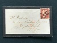 Postal History, Mourning Cover to Cambridge Square, London 1857, Rasch, RF7