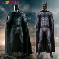 Justice League Batman Bruce Wayne Cosplay Costume Zentai Jumpsuit Bodysuit