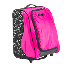"New Grit Figure Skate Tower Equipment Bag 20"" inch skating wheeled roller pink"
