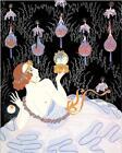 Stolen Kisses fantasy Art Deco ERTE' 8 x 10 Art Print
