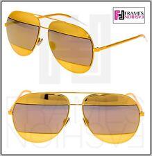 b23c08d5db5 CHRISTIAN DIOR Split 1 Orange Gold Metal Aviator Mirrored Sunglasses  DIORSPLIT