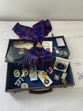 More details for job lot of mixed historical freemason medals / medallions masonic jewels, buckle
