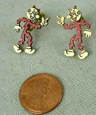 Vintage 1953 Reddy Kilowatt The Mighty Atom Screw Back Earrings