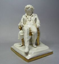 (G6376) Scheibe - Alsbach Figur 'Beethoven', Gold staffiert, H= 18 cm