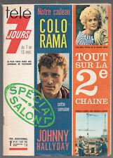 ▬►TÉLÉ 7 JOURS 181 de 1963 JOHNNY HALLYDAY avec Colorama_LA 2eme CHAINE