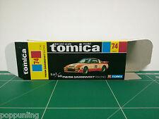 REPRODUCTION BOX for Tomica Black Box No.74 Mazda Savanna RX-7 Racing