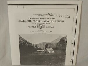 USDA Forest Service Topographical Map LEWIS & CLARK NATIONAL FOREST Montana 1984