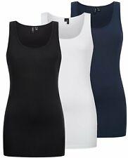 Vero Moda Damen Top Tanktop Shirt Longshirt Rundhals Oberteil VMMaxi My Soft
