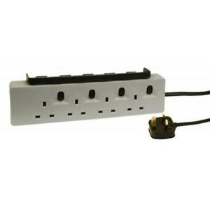4 Socket Workshop Extension Lead With Twin 2.4A USB