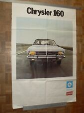 Grande Affiche Ancienne Automobile SIMCA CHRYSLER  160 car poster