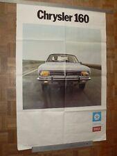 Grande Affiche Ancienne Automobile SIMCA CHRYSLER  160 car poster