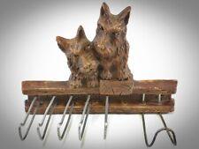 Vintage Scotty Scottie Dog Scottish Terrier Figural Tie Rack Belt Holder Cute