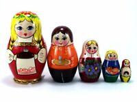 "5er Schachtelpuppe 15 cm NEU Spielsachen/"" Matroschka Steckpuppe /""Spielzeug"