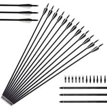 """50X Archery Carbon Arrows 31"""" SP 500 Compound Recurve Bow Longbow Hunting Target"""