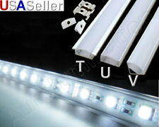 Aluminum LED Strip Fixture Channel Under Counter Cabinet Light Kit T U V Angle
