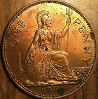 1964 GREAT BRITAIN ELIZABETH II ONE PENNY COIN