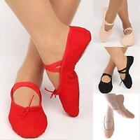 Hot Adult Child Canvas Soft Ballet Dance Slippers Pointe Gymnastics Shoes BAAU