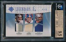 2009 Ultimate Six Jrsy. Patch AIKMAN/ ELWAY/ STAUBACH/ PAYTON/ SANDERS *BGS 9.5*