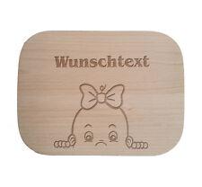Frühstücksbrettchen nach Wunsch / Holz / Buche / Kinder / Baby