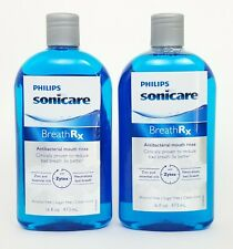 Lot of 2 Philips Sonicare BreathRx Anti-Bacterial Mouth Rinse 16 Ounce Bottles