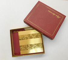 VINTAGE ELGIN AMERICAN GOLD PLATED POWDER COMPACT & MIRROR WITH ORIGINAL BOX **
