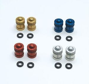 Felge / Ventile ergal IN CNC Paar / Valve Head Tasse CNC Anodized Pair-Kit