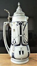 Très grand pichet krug bierkanne R.Merkelbach Grenzhausen art nouveau jugendstil