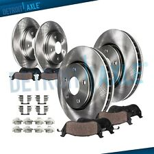 Brake Rotors + Brake Pads Toyota Camry Avalon Lexus ES300h Front & Rear Pads Kit